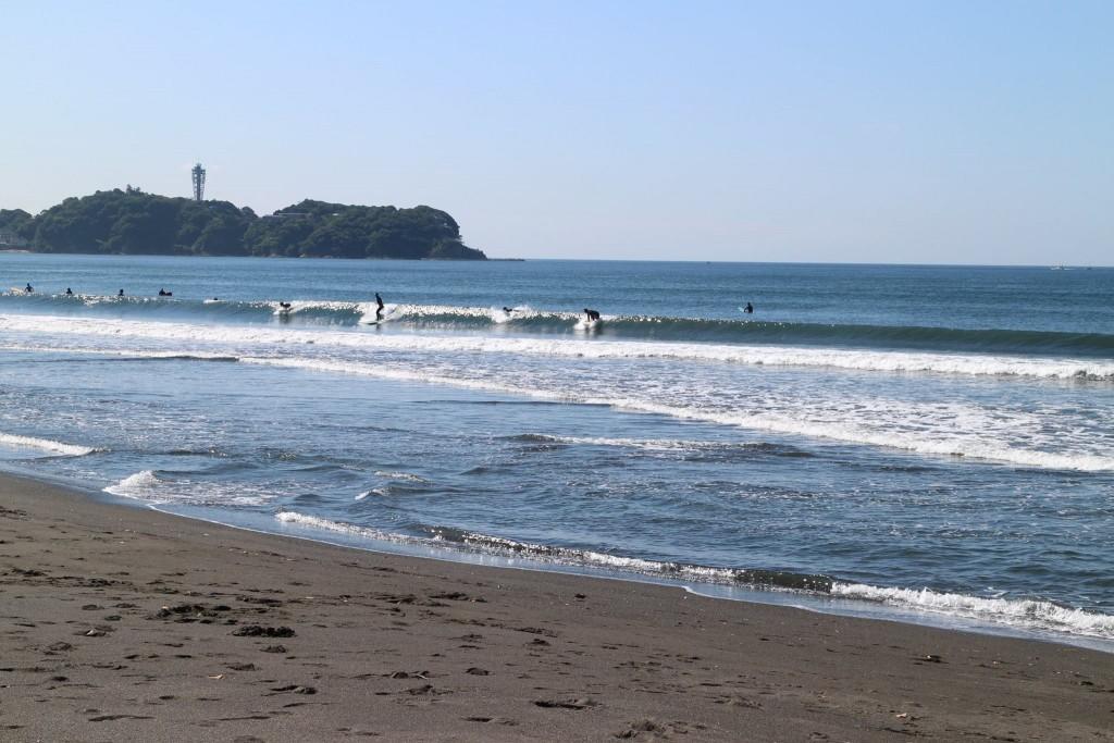 サーファーの最も多い湘南エリア