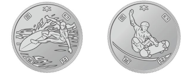 サーフィンやスケートボードなど新種目が東京五輪 記念硬貨のデザイン