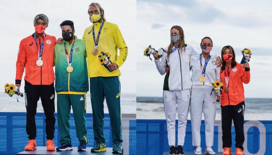 初のオリンピックサーフィンで唯一2つのメダルを獲得した日本とメダリスト達のコメント