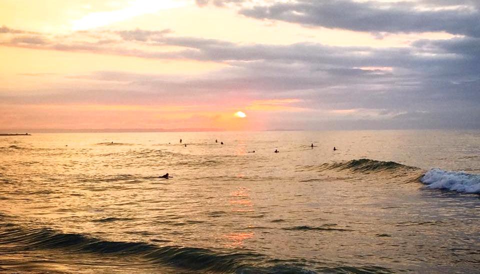 サーフィン 夕日