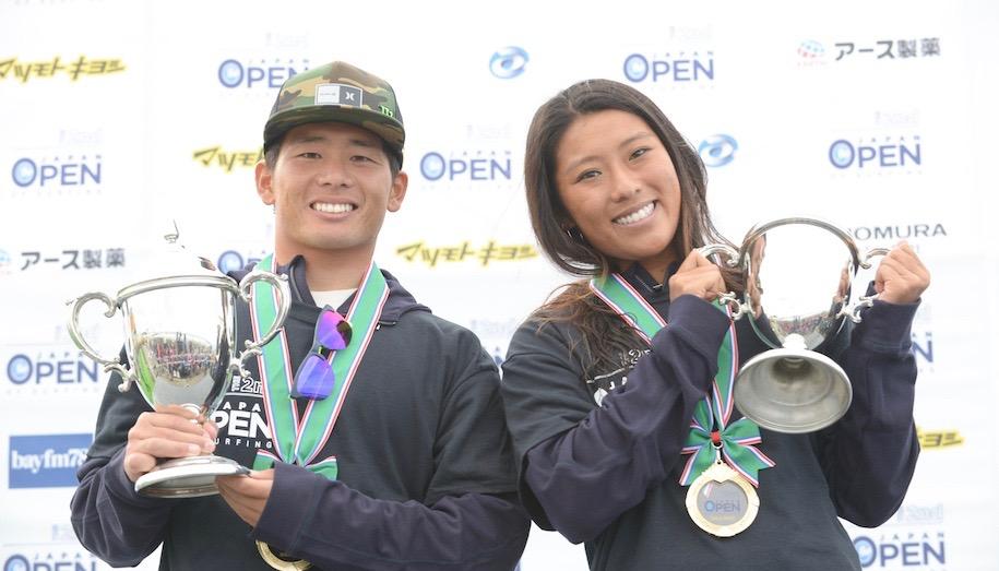 大原洋人と前田マヒナの優勝インタビュー『第2回 ジャパンオープンオブサーフィン』