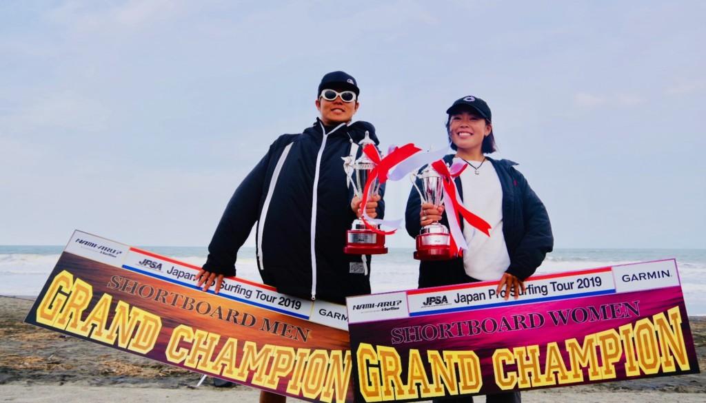 昨年、初のグランドチャンピオンに輝いた河谷佐助と須田那月