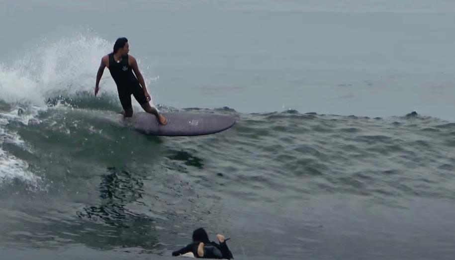 台風16号湘南 真田和斗サーフィン映像 エッグ型ミッドレングス DeadKooks SALTY 7'2