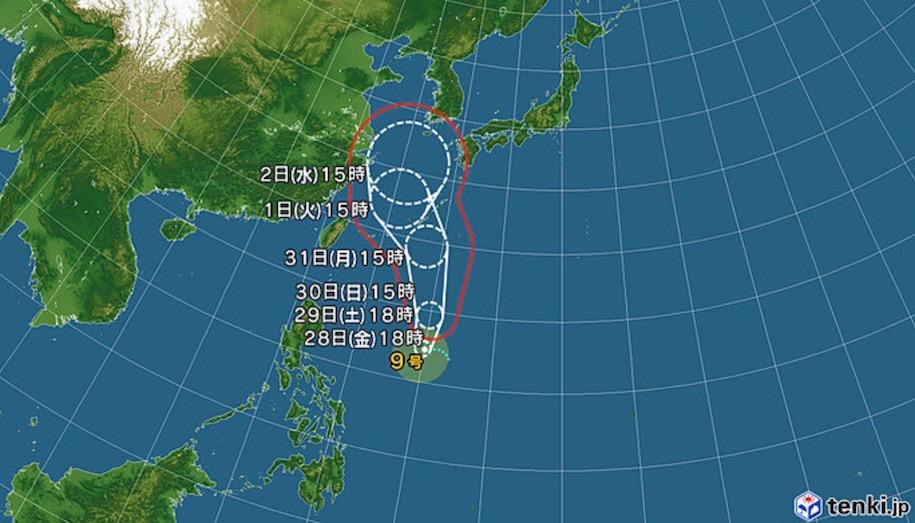 サーフィン 台風