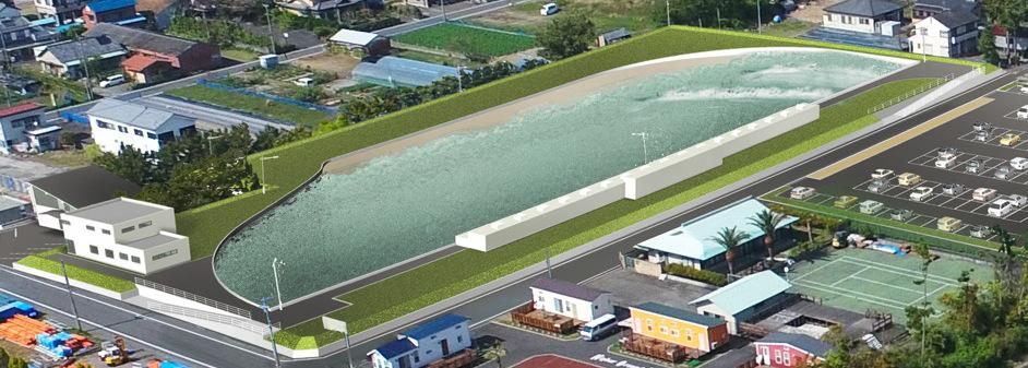 牧之原市ウェイブプール施設 開発イメージ