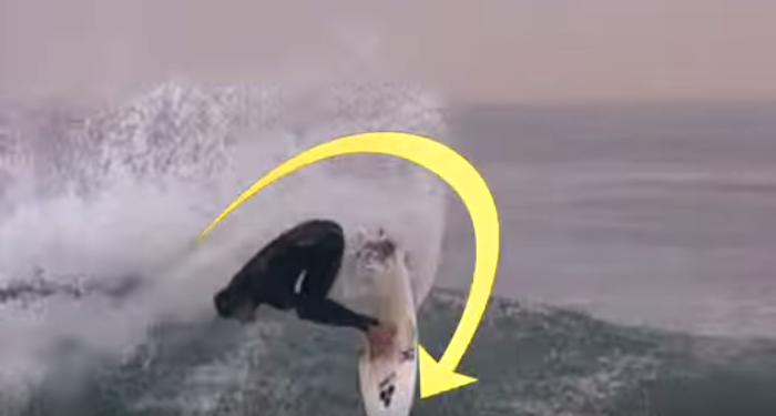 サーフィン バックサイド・テール スライド