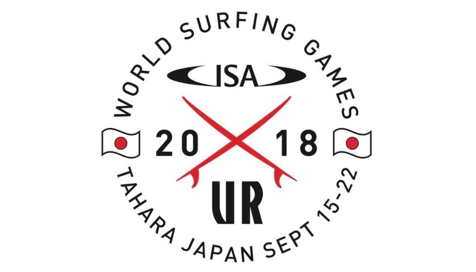 2018 アーバンリサーチ ISAワールドサーフィンゲームス ロゴ