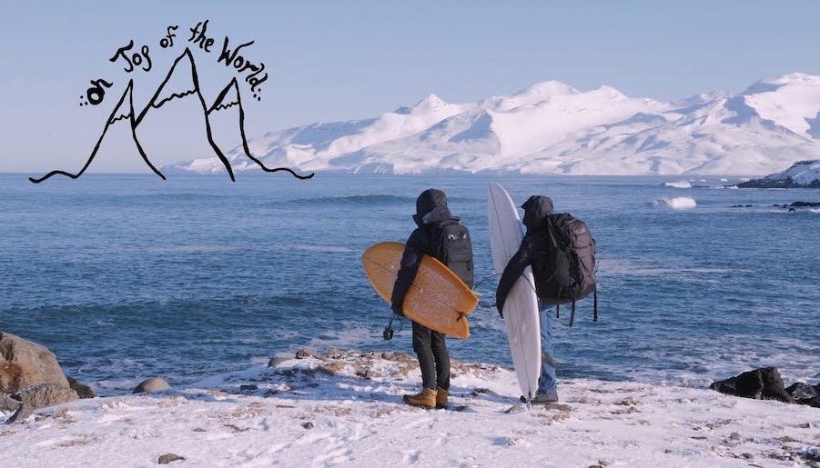 トレン・マーティンのガールフレンド 女性2人による冬の北極圏 極寒サーフィン映像『On Top of the World』