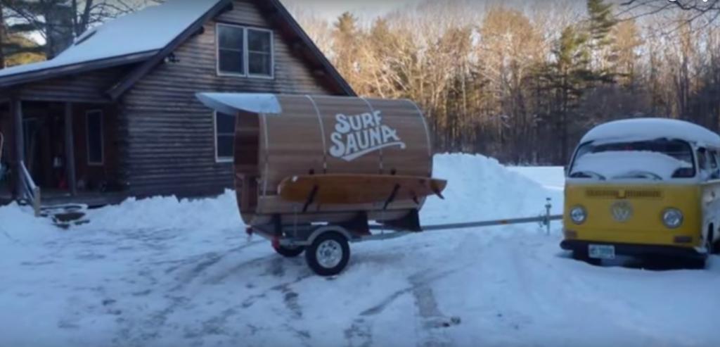 冬のサーフィン