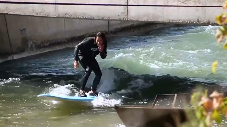 river surfing at Argentina