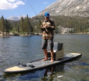 SUPで釣り